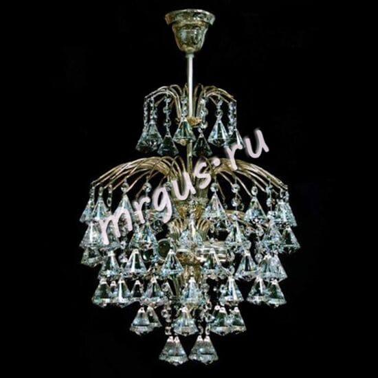 Хрустальная подвесная люстра Брызги 3 лампы Шампанского