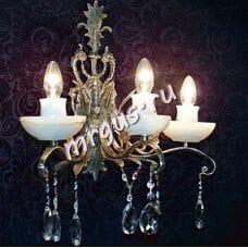 Бра Бронза 3 лампы  Оникс