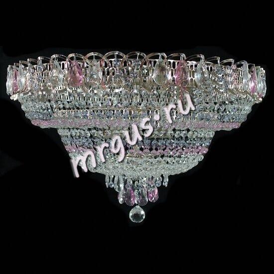 Водопад  5-8 ламп Сиренево-розовый