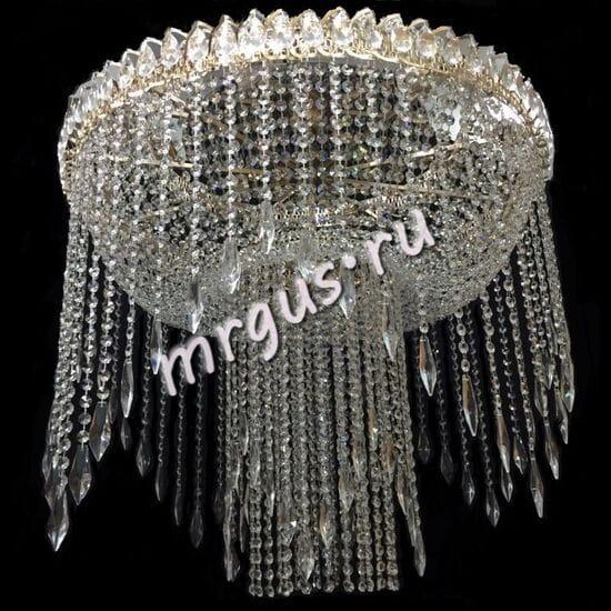 Потолочная хрустальная люстра Невеста 8-10 ламп с зеркалом