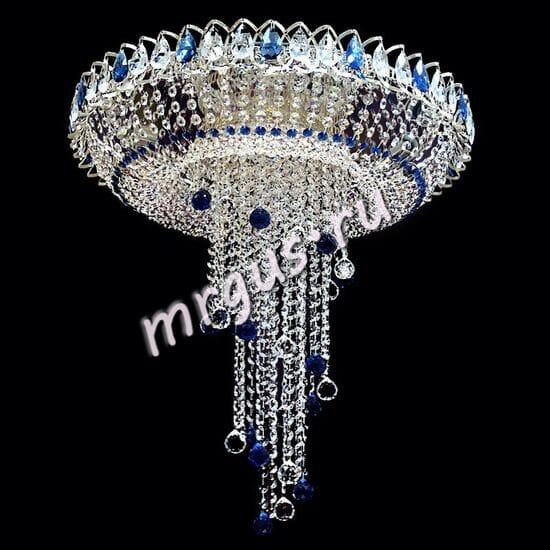Потолочная хрустальная люстра Водоворот 6-8 ламп Шары Цветной