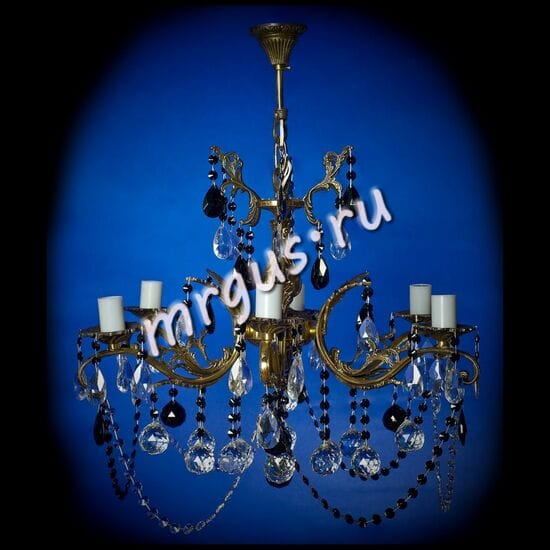 Бронза  6 ламп Шары Высокая