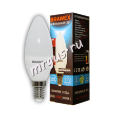 Светодиодная диммируемая лампа свеча Е14,нейтральный свет