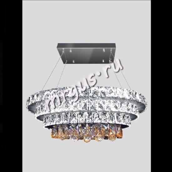 Cветодиодная подвесная хрустальная люстра LED-0072