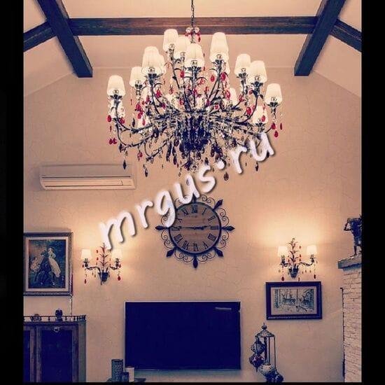 Люстра Ригонда 25 ламп. Фото в интерьере
